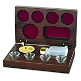 Artistic Manufacturing 920466 Commun Set Brasstone Portable 4 Cup Walnut