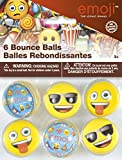 Unique Party 50638 - Emoji Bouncing Balls Party Bag Fillers, Pack of 6