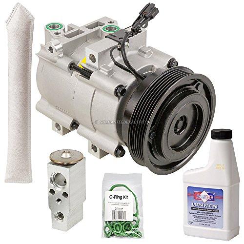 (AC Compressor w/A/C Repair Kit For Hyundai Santa Fe 2001-2006 - BuyAutoParts 60-80292RK New)