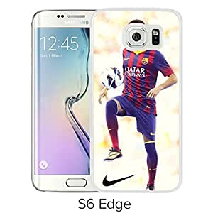 Durable and Fashionable Case Design with Neymar 78 Samsung Galaxy S6 Edge White Phone Case