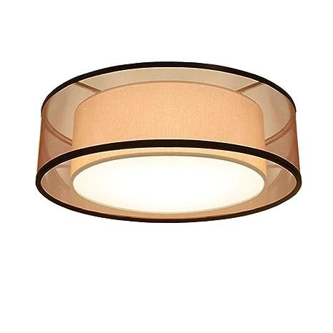 YOXANG - Lámpara de techo LED de tela para dormitorio ...