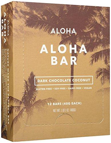 UPC 638888378098, Aloha Snack Bar - Dark Chocolate Coconut - 1.41 Ounces - 12 ct