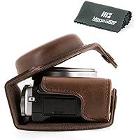 MegaGear Ever Ready Protective Leather Camera Case, Bag for Fujifilm X70 Digital Camera (Dark Brown)