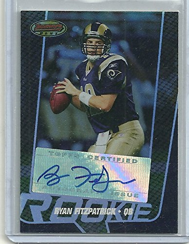 2005 Bowman's Best Football Ryan Fitzpatrick Autographed Rookie Card # 458/999