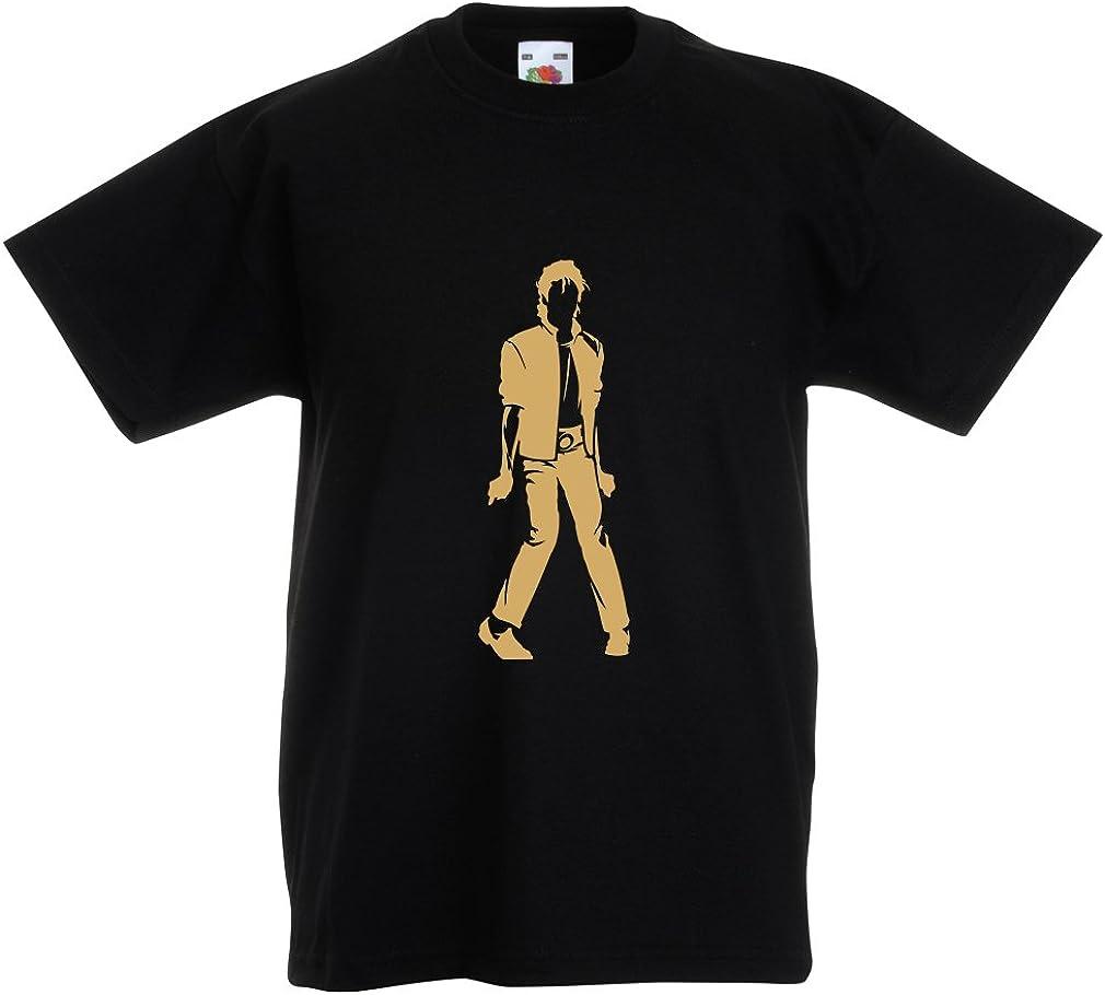lepni.me Camiseta para Niño/Niña Me Encanta M J - Rey del Pop, 80s, 90s
