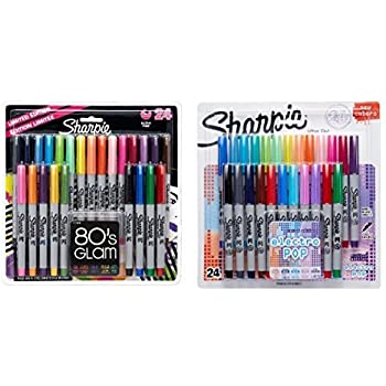Sharpie Ultra-Fine Point Permanent Markers, 80s Glam and Electro Pop Colors, 48 Markers In Total (Ulrta fine point)