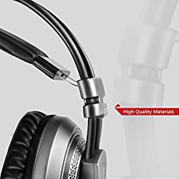 XIBERIA V10 USB Surround Sound Gaming Headset Noise Isolation Wired Over Ear Stereo Headphones with Microphone and Volume Control LED Light for PC / Laptop - (Gray/Black)