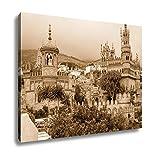 Ashley Canvas Exterior Of Colomares Castle Benalmadena Town Spain, Wall Art Home Decor, Ready to Hang, Sepia, 16x20, AG6378490