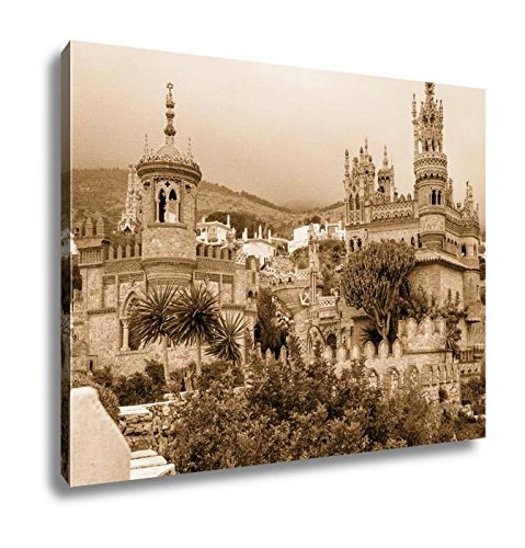 Ashley Canvas Exterior Of Colomares Castle Benalmadena Town Spain, Wall Art Home Decor, Ready to Hang, Sepia, 16x20, AG6378490 by Ashley Canvas