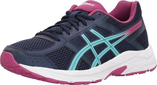 ASICS Gel-Contend 4 Women's Running Shoe, Peacoat/Porcelain Blue/Fuschia Red, 5 M US