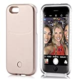 iPhone 6S Plus Case, Elftear LED Light Up Selfie Cell Phone Case Luminous Back Cover Skin for Apple iPhone 6S Plus iPhone 6 Plus 5.5 Inch (Gold)