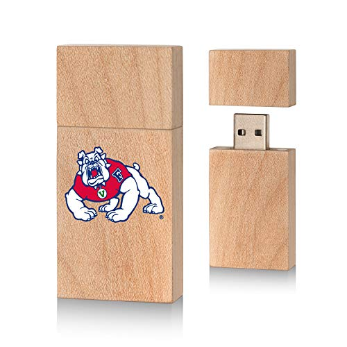 Keyscaper KUWB16-0FRS-INSGN1 Fresno State Bulldogs Wood Block USB Drive with FS Insignia Design (One Apple Fresno)