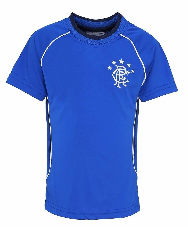Girl 's公式2016 / 17 Glasgow Rangers f.c Personalisedギフトボックス版サッカーフットボールシャツ B01MAVU4R7ロイヤル 43258