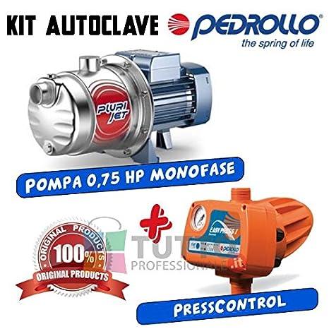Kit Autoclave Pompa Multigirante Autoadescante Pedrollo Plurijetm 4