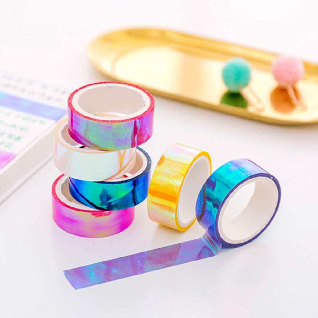 Nastro adesivo decorativo Washi Tape per scrapbooking fai da te Rosa Tandou