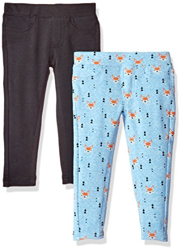 VIGOSS Girls' Little 2 Pack Leggings, Soft Blue, 6 -