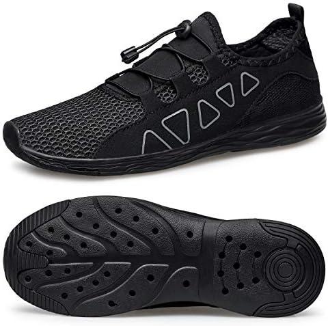 メンズ ウォーターシューズ - 速乾性 アウトドア 軽量 スポーツ アクアシューズ US サイズ: 10.5 カラー: ブラック