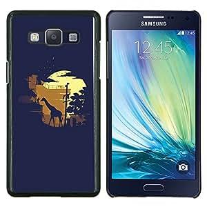 TECHCASE---Cubierta de la caja de protección para la piel dura ** Samsung Galaxy A5 ( A5000 ) 2014 Version ** --Moonlight Safari de la jirafa