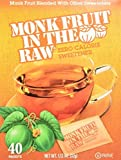 Monk Fruit in the Raw Zero Calorie Sweetner (Pack of 3) 40 Count, 1.2 oz Boxes