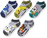 Pokemon Boys 5-Pack No Show Socks