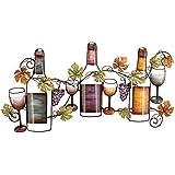 "Deco 79 Metal wine Wall Decor, 36 by 19"""