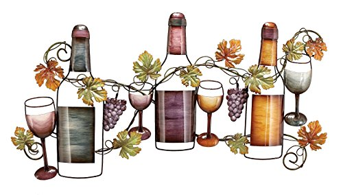Deco 79 Metal wine Wall Decor, 36 by (Painted Metal Grapevine)