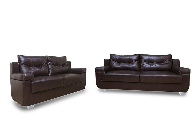 Adorn India Soleado Five Seater Sofa Set 3-2 (Brown )