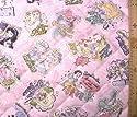 <Qキャラクター・キルティング生地>ディズニープリンセス (ラメグリッター付き・ピンク)#53