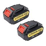 2-Pack 20V Dewalt 80Wh Lithium-Ion 4.0 Ah XR Battery for DCB200-2 DCB205-2 DCB204-2