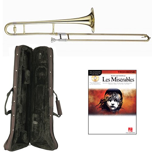 Les Misérables Bb Tenor Slide Trombone Pack - Includes Trombone w/Case & Accessories & Play Along Book Les Miserables Trombone