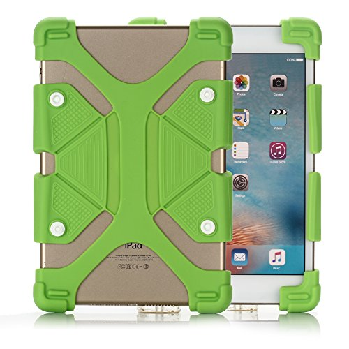 Universal 7.9-9.0 inch Tablet PC Case, Dteck(TM) Drop Proof Rugged Case Kickstand Portable [Reinforced Corners] Adjustable Body Back Cover for All 7.9-9.0 inch Apple iPad Samsung Tablets (01 Green) (8 Le Tablet Cover Pan Inch For)