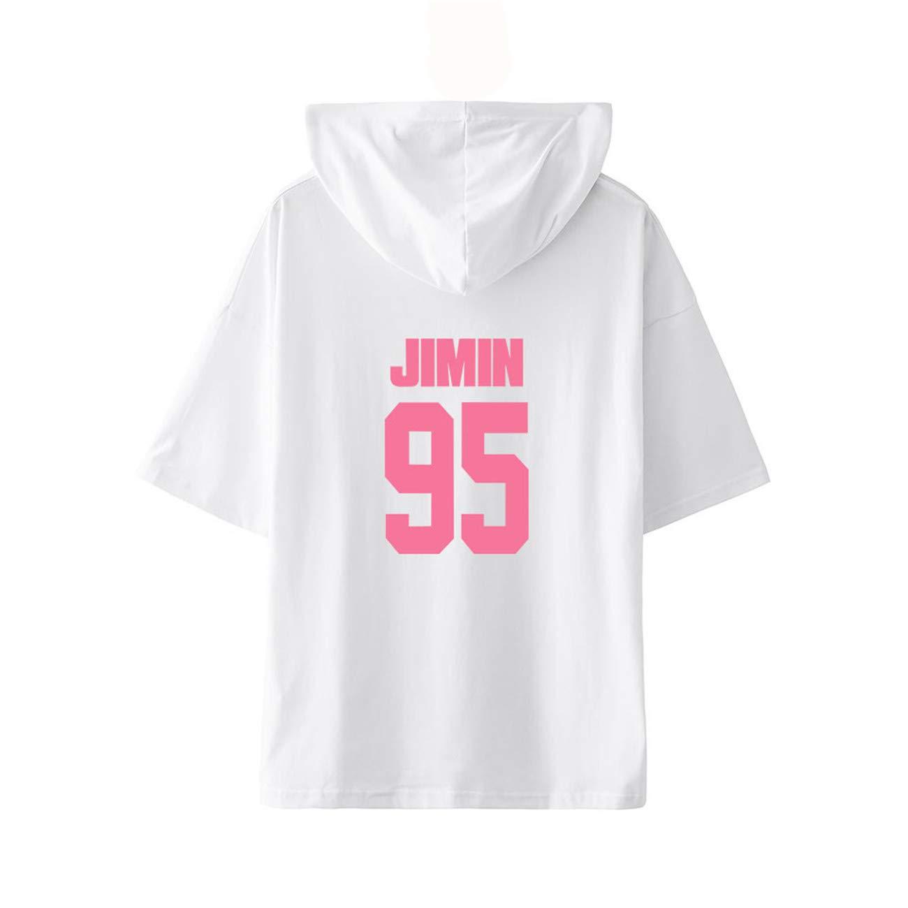 SERAPHY Camiseta BTS Bangtan Boys Map de The Soul Persona Camiseta con Capucha B/ásica para Trabajo de Gran Tama/ño Top Deportivo Suelto de Moda para Mujer