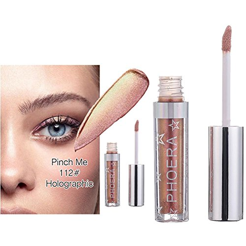 Jinjin 12 Color PHOERA Magnificent Metals Glitter Glow Liquid Eyeshadow (L)