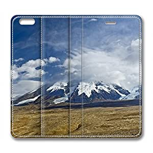 Snow Mountain Customized Design Leather Case for Iphone 6 Plus / Iphone 6 Plus Cover Cloud