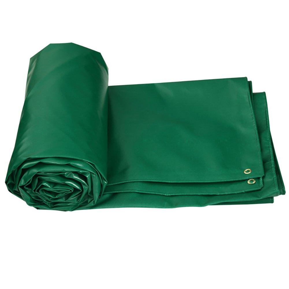 Z&YY Verdicken Sie Segeltuch-Plane-Hochleistung Doppelseitige Wasserdichte Zelt-Spleiß-Markise-Sonnenschatten-Plane Boden-Blatt-Abdeckungen Schuppen-Tuch-regendichtes Staubdicht-Grün, 520G   M²