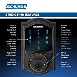 Schlage Z-Wave Connect Camelot Touchscreen Deadbolt with Built-In Alarm, Works with Amazon Alexa via Wink, Aged Bronze, FE469NX ACC 716 CAM LH