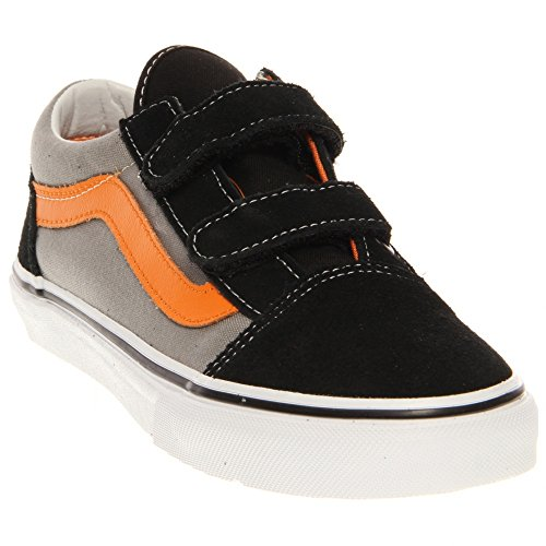 Vans Old Skool Kids Shoes 4 Toddler M Pop Black Sun Orange