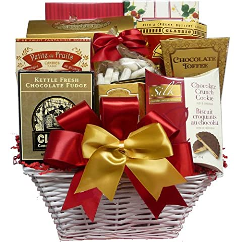 The Sweet Life Cookies and Candy Gift Basket - Godiva Basket