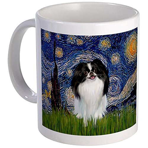 CafePress - Starry Night & Japanese Chin Mug - Unique Coffee Mug, Coffee Cup by CafePress