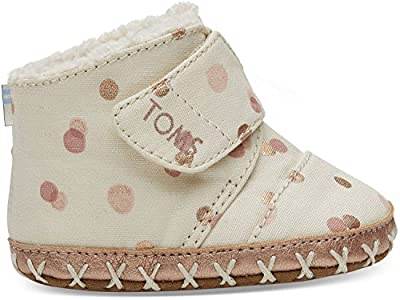 TOMS Kids Baby Girl's Cuna (Infant/Toddler) Pale Blush Party Dots 1 Infant