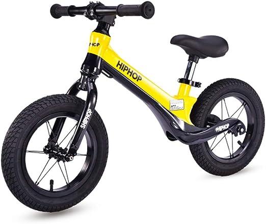 Bicicleta sin pedales Bici Equilibrio para Bicicleta de 4 años para niño - Aluminio para niños Sin Pedales Primera Bicicleta Liviana, 12 Pulgadas, Ruedas: Amazon.es: Hogar