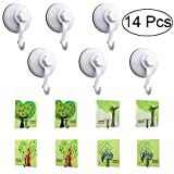 West Bay 14pcs Large Suction Cup Hooks,Christmas Wreath Holders ,Shower Hangers Giant Suction Cups for Wreath Hangers Glass Doors, Windows Home Kitchen Hooks Supplies Decorations