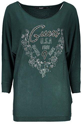 Logo G882 Donna Guess T Ls Basic shirt Bn Verde Lea wwpSqHPI