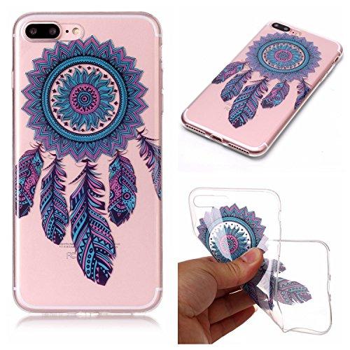 Custodia iPhone 7 Plus / iPhone 8 Plus , LH Blu Chimica Del Vento TPU Trasparente Silicone Cristallo Morbido Case Cover Custodie per Apple iPhone 7 Plus / iPhone 8 Plus 5.5