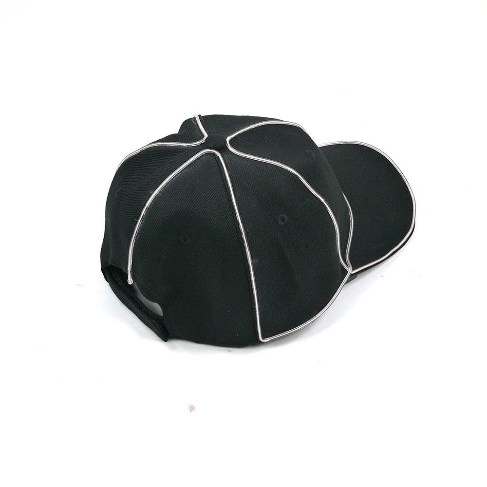 Ying Ying Ying xinguang Gorra de béisbol con LED Fibra Sombrero Negro Etapa Noche Sombrero de luz Color  (Color : Blanco) 9b8013