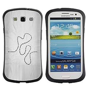 All-Round híbrido de goma duro caso cubierta protectora Accesorio Generación-I BY RAYDREAMMM - Samsung Galaxy S3 I9300 - Present Life Education Learning Quote Road