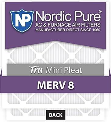 Nordic Pure Mini Pleat MERV 11 AC Furnace Air Filters