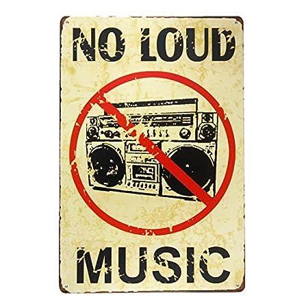 Zor345damilla NO Loud Music Cartel de Metal Vintage para ...