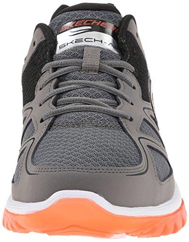 Skechers Sport Mens Skech Air 2.0 Brain Freeze Sneaker Charcoal/Orange Iyr2xD