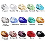 plastic beads for jewelry making - BRCbeads Glass Beads Crystal Findings Spacer Charms 150pcs Faceted #5500 Straight Hole Teardrop Shape 10x15mm Assorted Colors include Plastic Jewelry Container Box Wholesale Mix lot Beads for jewelery making